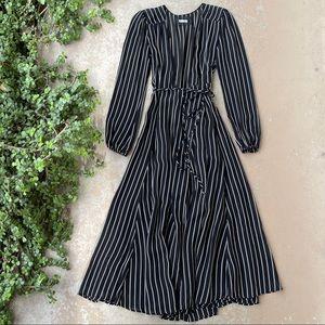 Reformation Ashley Wrap Dress in Hudson Stripe